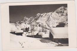 Carte Photo,haute Savoie, La Clusaz,photographe P Merillon,station Remplie De Neige,avalanche Possible,rare - Sonstige Gemeinden