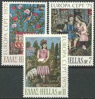 GRIECHENLAND 1975 MI-NR. 1198/00 ** MNH - CEPT - Nuovi