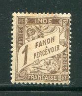 INDE- Taxe Y&T N°15- Neuf Avec Charnière * (une Tache Au Dos, En Haut) - Indien (1892-1954)