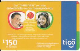 HONDURAS - Couple On Phone, TIGO Prepaid Card L150, Exp.date 10/08, Used - Honduras