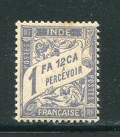 INDE- Taxe Y&T N°16- Neuf Avec Charnière * - Indien (1892-1954)
