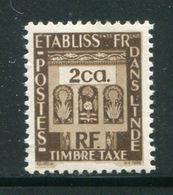 INDE- Taxe Y&T N°20- Neuf Sans Charnière ** - India (1892-1954)