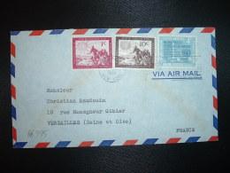 LETTRE TP 10c + TP 1c + TP WE THE PEOPLES 4c OBL.MEC.JUL 31 1961 UNITED NATIONS NEW YORK - Lettres & Documents