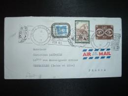 LETTRE TP CHAILLOT 8c + TP 20c + TP 25c OBL.MEC.1964 UNITED NATIONS - Lettres & Documents