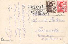 DEUTSCHES REICH - POSTKARTE TRIER -> THIONVILLE - Briefe U. Dokumente