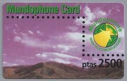 ES.- INTERNATIONAL PHONECARD. MUNDOPHONE CARD. SPAIN TELECOMUNICACIONES - Ptas 2500. - Spanje