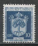 San Marino 1945. Scott #242 (M) Coat Of Arms Of Faetano * - Saint-Marin