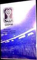 Football Programm (for Official Members)-IV EURO-CHAMPIONSHIP,U-18, 1985, Group B (Tbilisi):IRELAND,BRASIL,S.ARAB,SPAIN. - Livres