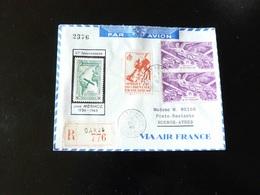 LETTRE POUR BUENOS AIRES  10 IEME ANNIVERSAIRE DE JEAN MERMOZ  RECOMMANDE DE DAKAR - Postmark Collection (Covers)