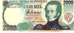 Venezuela P.77a 2000 Bolivares 1997 Unc - Venezuela