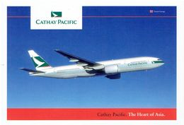 CATHAY PACIFIC AIRWAYS - Boeing 77 (airline Issue) - 1946-....: Moderne