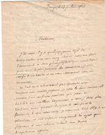 VP11.910 - 1921 - TANGER (Maroc ) Petite Lettre - Récit - Manuscritos
