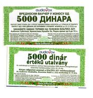 BON COUPON 5000 DINARA  SERBIAN HUNGARIAN For HEARING AID - Serbie