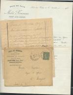 LAC Avec Entète Commerciale Hotel Des Voyageurs  Muzillac  (56)  + 2 Lettres En 1917 - Af26904 - Postmark Collection (Covers)