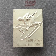 Badge (Pin) ZN006708 - Skiing Austria Saalbach-Hinterglemm 1961 - Winter Sports