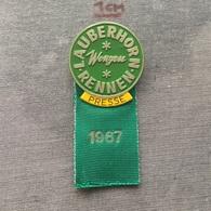 Badge (Pin) ZN006725 - Skiing Lauberhornrennen Switzerland Wengen 1967 PRESSE - Winter Sports