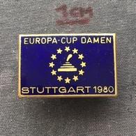 Badge (Pin) ZN006726 - Curling (Eisstockschießen / Kegljanje) Germany Stuttgart European Cup Women 1980 - Winter Sports