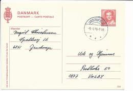 Brevkort No. 224 Stationery Postcard - 9 January 1989 Janderup Vestjylland - Postal Stationery