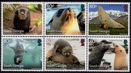 Falkland - South Georgia - 2018 - Antarctic Fur Seal - Mint Stamp Set - South Georgia