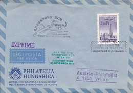 HUNGRIA. AUSTRIAN AIRLINES, AUSTRIA PHILATELIST.-TBE-BLEUP - Airmail