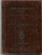 ARGENTINA 1951 PASSPORT- PASSEPORT -multiple VISAS And STAMPS - UK - ISRAEL - BELGIQUE - FRANCE - NEDERLANDS - SWEDEN - Documentos Históricos