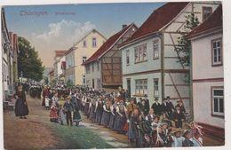 ALLEMAGNE,DEUTSCHLAND,GERMANY,THURINGEN EN 1916,KIRMESZUG,CARNAVAL,FETE DE VILLAGE,FOULE - Allemagne