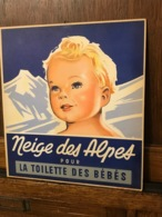 """Publicité Cartonnée """"NEIGE DES ALPES"""" - Paperboard Signs"""