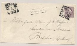Nederlands Indië - 1900 - Voorbedrukte Envelop Van VK AMBARAWA Naar Kapitein Artillerie VK MAOS - Nederlands-Indië