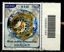 Italie - Italy - Italien 2012 Y&T N°(1) - Michel N°(1) (o) - 0,60€ Art De La Céramique Castelli - 6. 1946-.. Republik