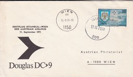 TURKIYE. ERSTFLUG ISTANBUL WIEN DER AUSTRIAN AIRLINES DOUGLAS DC9.-TBE-BLEUP - 1921-... Republiek