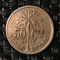50 Centimes Congo-Belge 1929 FR - Congo (Belgian) & Ruanda-Urundi