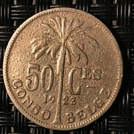 50 Centimes Congo-Belge 1923 FR - Congo (Belgian) & Ruanda-Urundi