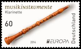 """ALEMANIA/ DEUTSCHELAND/ GERMANY ALLEMAGNE - EUROPA 2014-TEMA ANUAL """" INSTRUMENTOS MUSICALES NACIONALES""""- SERIE De 1 V. - Europa-CEPT"""