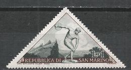San Marino 1953. Scott #327 (M) Discobolus * - Saint-Marin