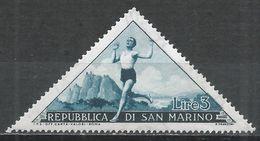 San Marino 1953. Scott #329 (M) Runner * - Saint-Marin