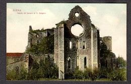 SIENA Veduta Del Tempio Di S. Galgano FP NV SEE 2 SCANS Ed.: Dr. Trenkler Lipsia - Siena