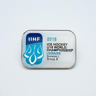 Pin - Ice Hockey WORLD CHAMPIONSHIP 2018 U18 Kyiv Ukraine  Division I Group B - Winter Sports