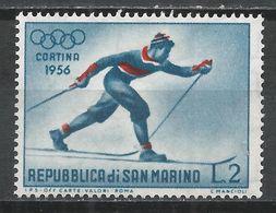 San Marino 1955. Scott #365 (M) Winter Olympic Games, Cortina D'Ampezzo, Cross-country Skiing * - Saint-Marin