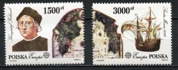 Europa CEPT Pologne - Poland - Polen 1992 Y&T N°3178 à 3179 - Michel N°3377 à 3378 *** - Europa-CEPT