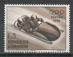 San Marino 1955. Scott #366 (M) Winter Olympic Games, Cortina D'Ampezzo, Bobsled * - Saint-Marin
