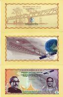 Presentation Folder Bangladesh 70 Taka 2018 Commemorative Bank Note UNC Space - Bangladesh