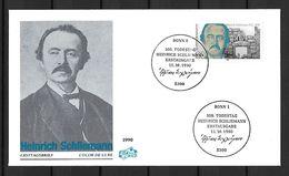 1990 Joint / Gemeinschaftsausgabe, Germany West And East And Greece, FDC WEST GERMANY: Heinrich Schliemann - Gezamelijke Uitgaven