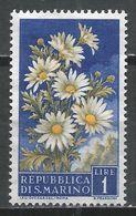 San Marino 1957. Scott #394 (M) Flowers' Daisies And View Of San Marino * - Saint-Marin