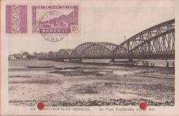 Saint Louis Du Senegal. Le Pont Faidhrbe Vu De Sor - Viaggiata - Senegal