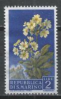 San Marino 1957. Scott #395 (M) Flowers' Primrose And View Of San Marino * - Saint-Marin