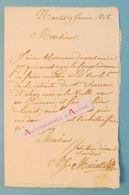 L.A.S 1808 MARIOTTE Personnalité Nantaise à Identifier à M. Ménard Avoué à SAVENAY Lettre Autographe 1er Empire Nantes - Autographes