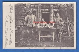 CPA Photo - Sur Le Front - Poste Optique DAUVILLERS - Soldat Etienne LIEVRE Et Poilu BEVILLARD - 1916 Transmission WW1 - Guerre 1914-18