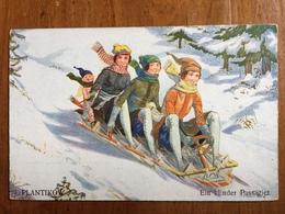 (sports D'hiver, Bobsleigh) Walter PLANTIKOW: Ein Blinder Passagier (l'Amour, Passager Clandestin), 1925. - Sports D'hiver