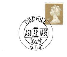 1997 REDHILL PHILATELIC SOCIETY EVENT COVER GB Stamps Philatelic Exhibition - Esposizioni Filateliche