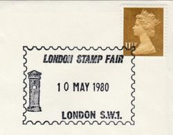 1980 LONDON STAMP FAIR EVENT COVER Pillarbox Post Box  GB Stamps Philatelic Exhibition - Esposizioni Filateliche